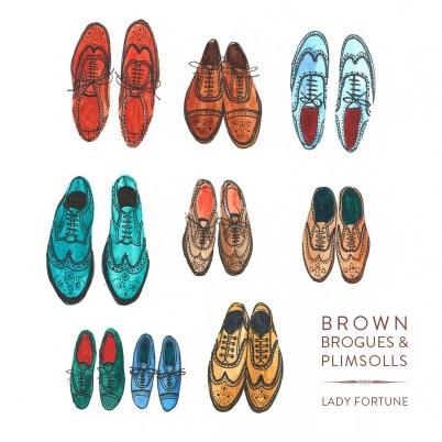 Lady Fortune - Brown Brogues & Plimsolls